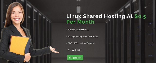 half dollar hosting with unlimited space and bandwidth